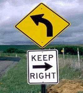 strange traffic sign