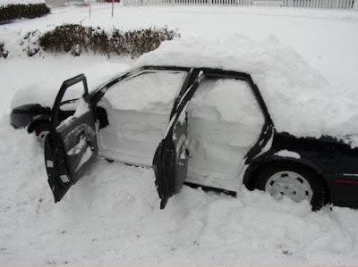 Funny Frozen Car