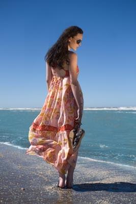 tunicas y vestidos para la playa