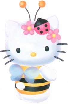 per carnevale ho deciso di mettere hello kitty vestita da apetta