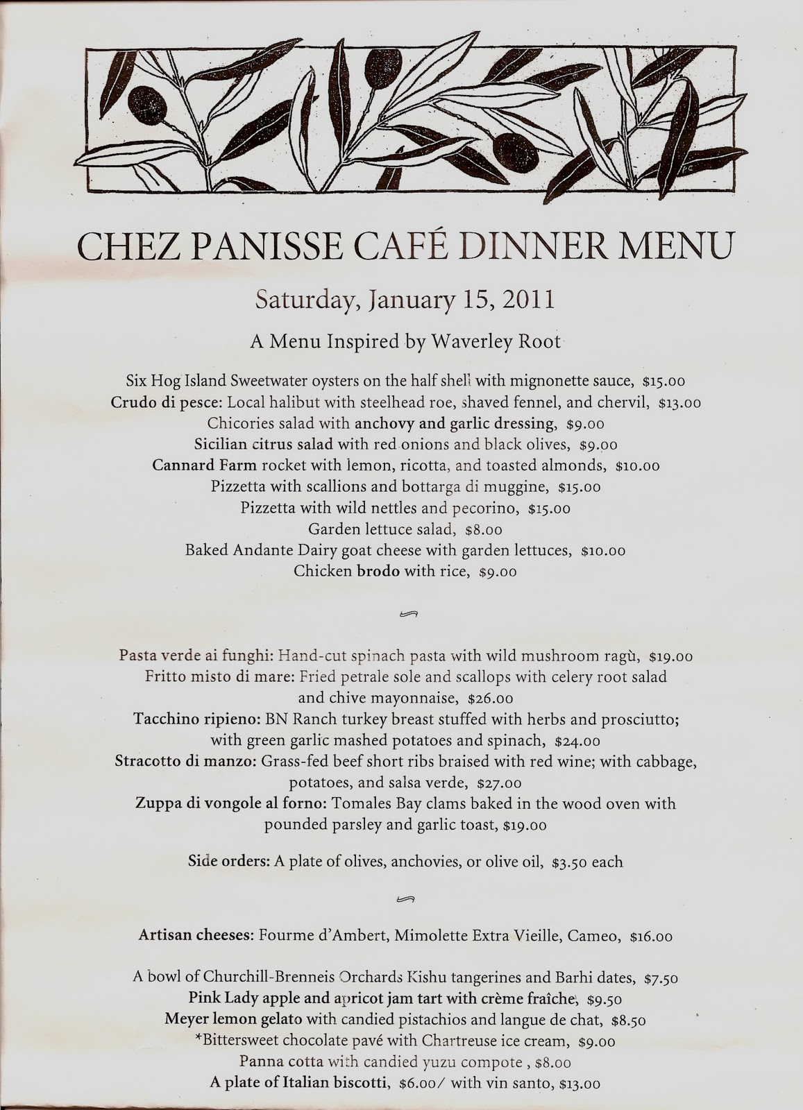 Dining at Chez Panisse | Frieda's Inc. – The Specialty Produce Company