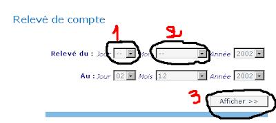 كيفية استخراج كشف الحساب بريد الجزائر post d'algerie Releve-compte-ccp