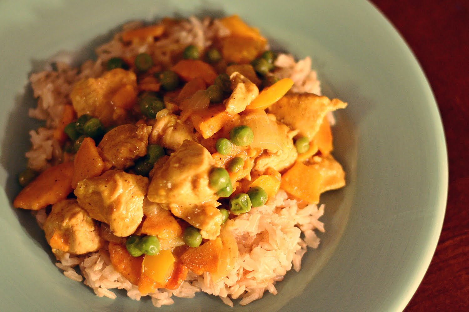 colemans in love.: sweet potato & chicken curry-in-a-hurry :)