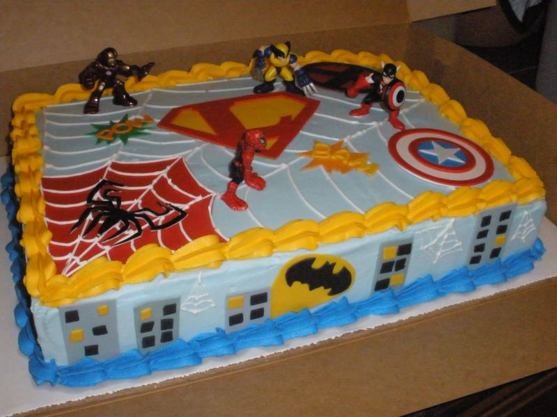 The Morgans: Superhero Cake