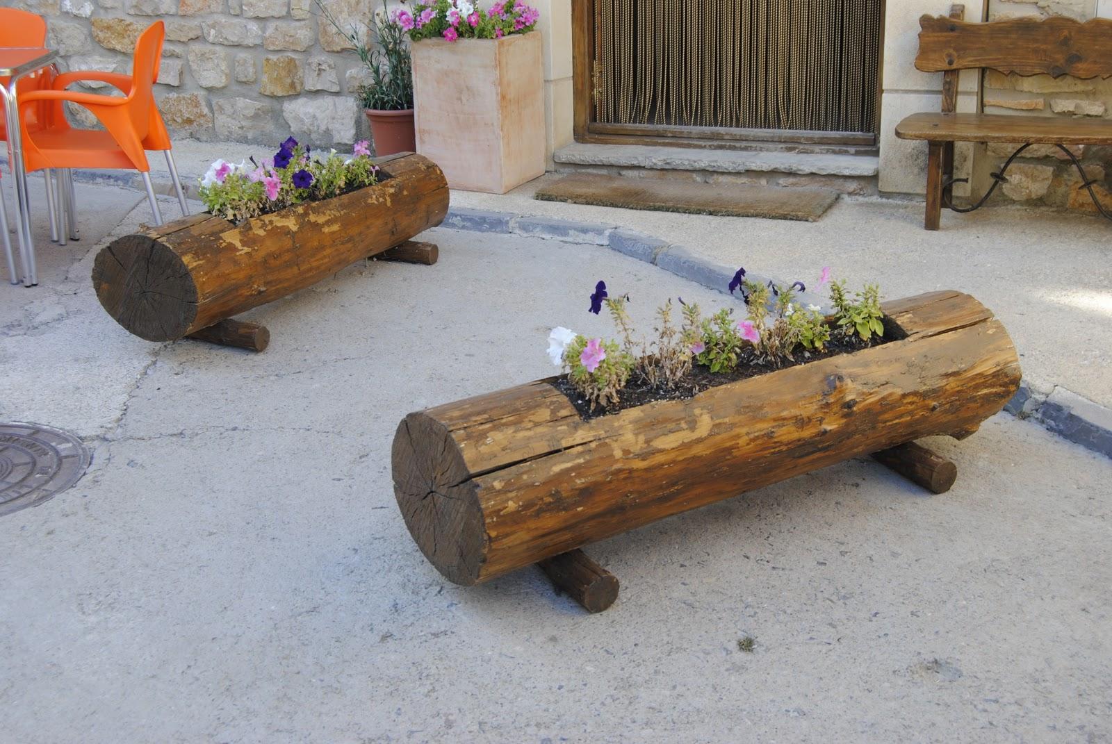 Macetones y jardineras de madera :