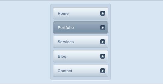 Nav menu PSD file
