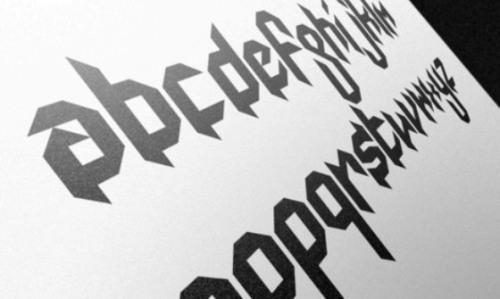 mod gothic font