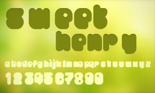 sweet henry font