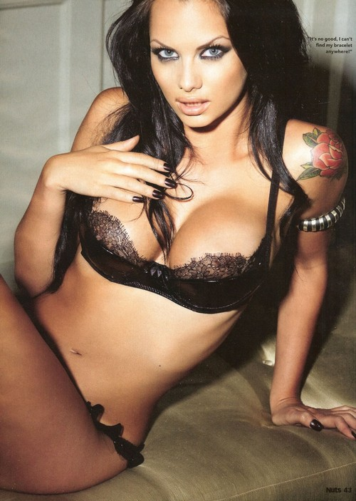 ... Sexy. With British model and TV-star Jessica Jane Clement.