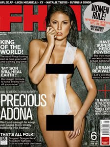 Preciuos Adona FHM Philippines May 2008 Covergirl
