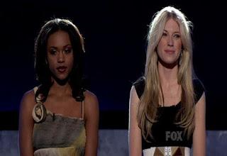American Idol April 30 Bottom 2 Syesha Mercado and Brooke White