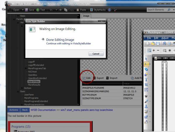 Modif Tampilan Win7 Step by Step Buatan Sendiri (Make Your Own Win7 ... apa Keistimewaannya??? Software Editing gambar ini Support utk membuat /  meng-edit gambar dg format *.bmp 32 bit alpha channel.. Di Padukan dg  RESTORATOR.
