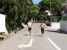 Amb la Maria acabant el circuit de running.