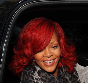 rihanna hair red short. rihanna hair color. Red