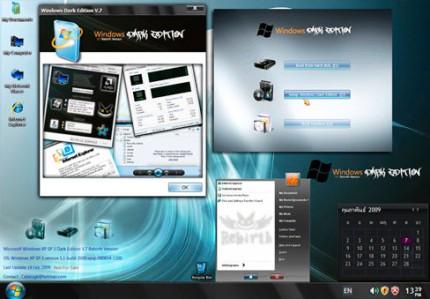 Download Microsoft Windows XP SP3 Cyber Dark Edition Final Genuine x86