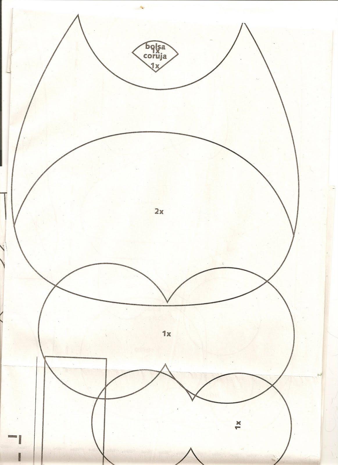 Bolsa Em Feltro Molde : Moldes para artesanato em tecido bolsa de coruja com molde