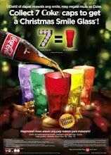COKE SMILE GLASS (CHRISTMAS 2008)