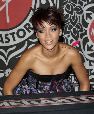 Rihanna Tattoos New Hairstyle