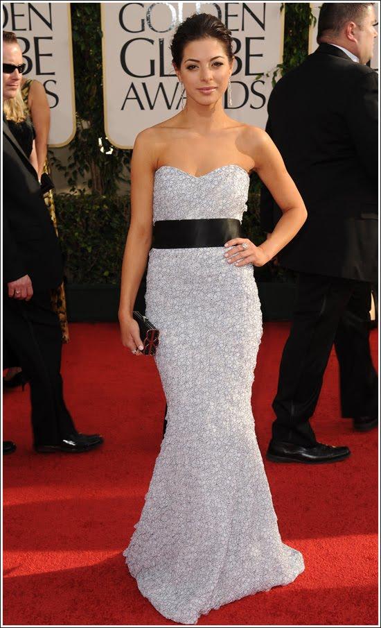 2011 Golden Globe Awards: Gia Mantegna Dress & Makeup