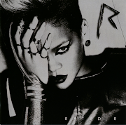 The images on all covers of the album include Rihanna dressed in black and .