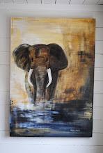 mina akrylmålningar