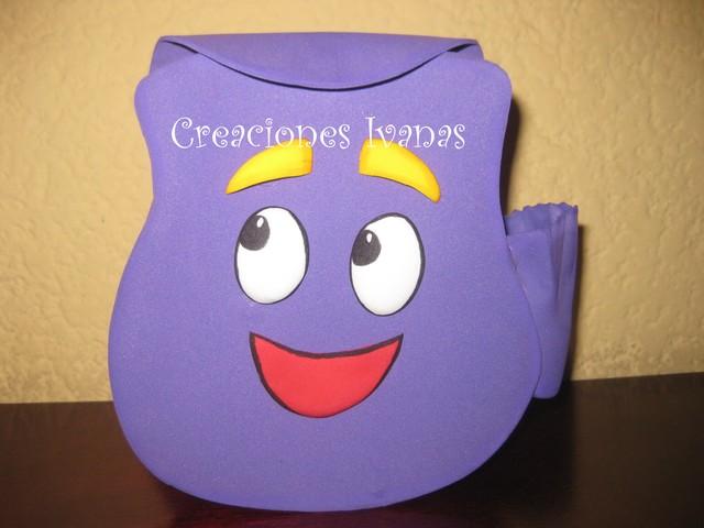 Moldes de mochila de Dora la exploradora en foami - Imagui