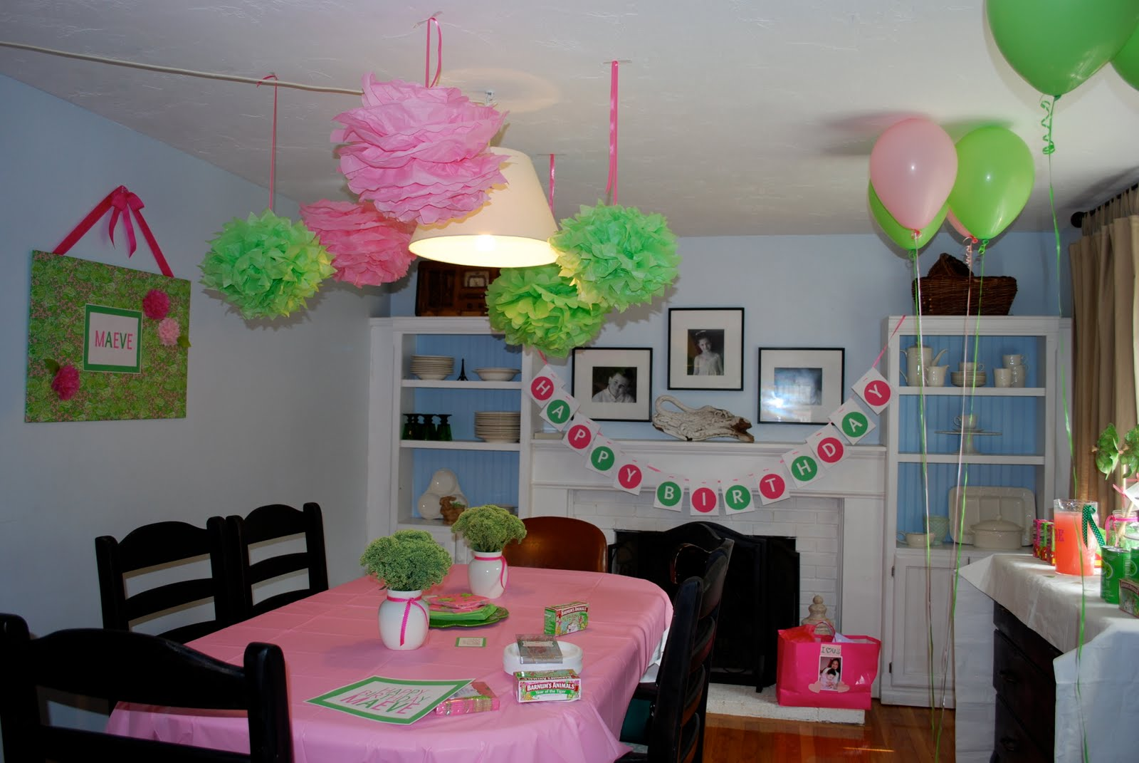 pumpkin petunia lilly pulitzer inspired pink green party. Black Bedroom Furniture Sets. Home Design Ideas