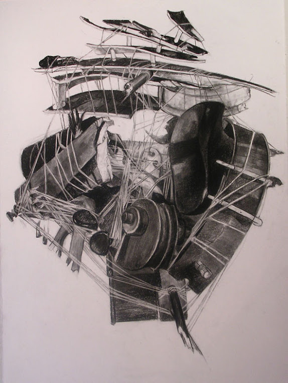 Untitled, Medusa I, Charcoal and Pitt on Cotton Paper, 2006 70 x 90 cm