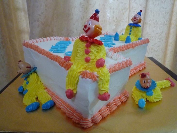 Gg Home Biz Cakes Wedding Cakes Novelty Clown Birthday Cake For