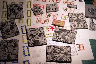 Linoleum schneiden werkzeug