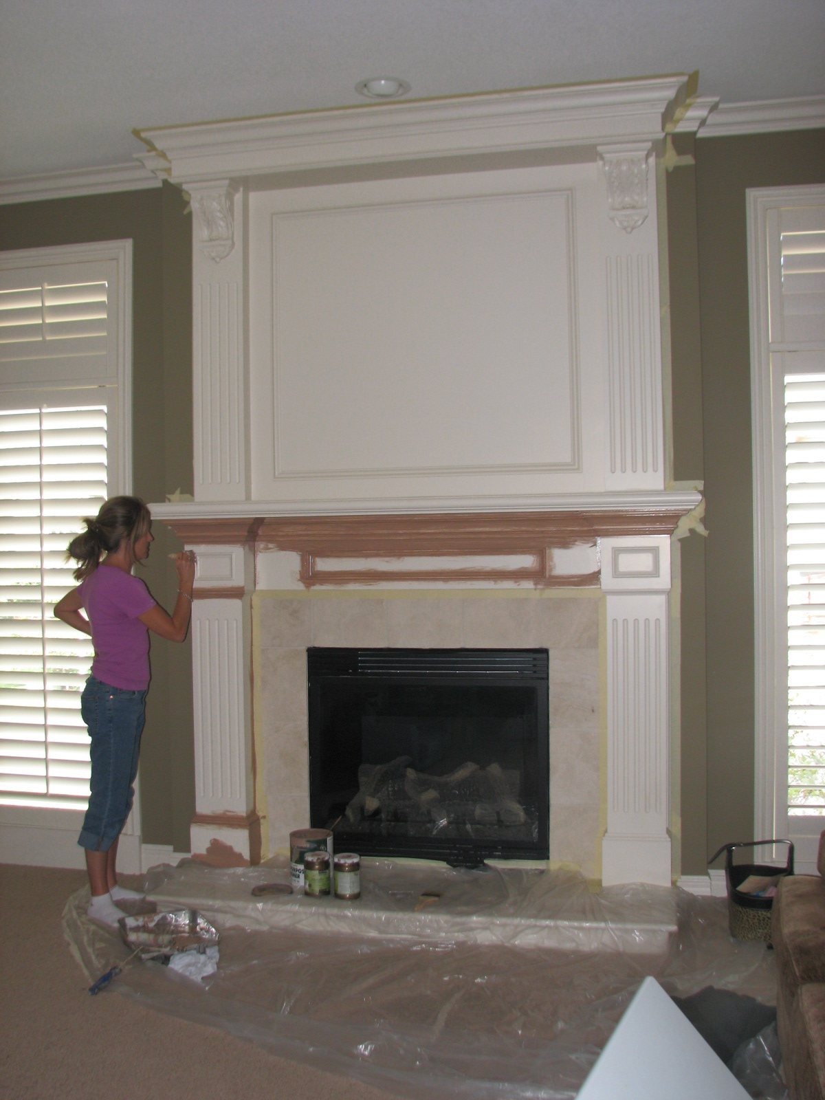 The Magic Brush, Inc.: Fireplace makeover