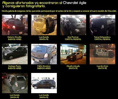 Fotos tomadas por aficionados del Chevrolet Agile