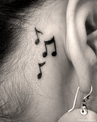 Music Tattoos Ideas For Guys Rose Tattoo Designs And Notes