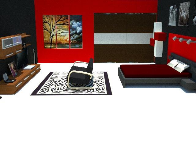 Hibrido s arquitectura black red for Remodelacion de recamaras