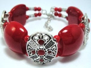 Red fancy bracelet
