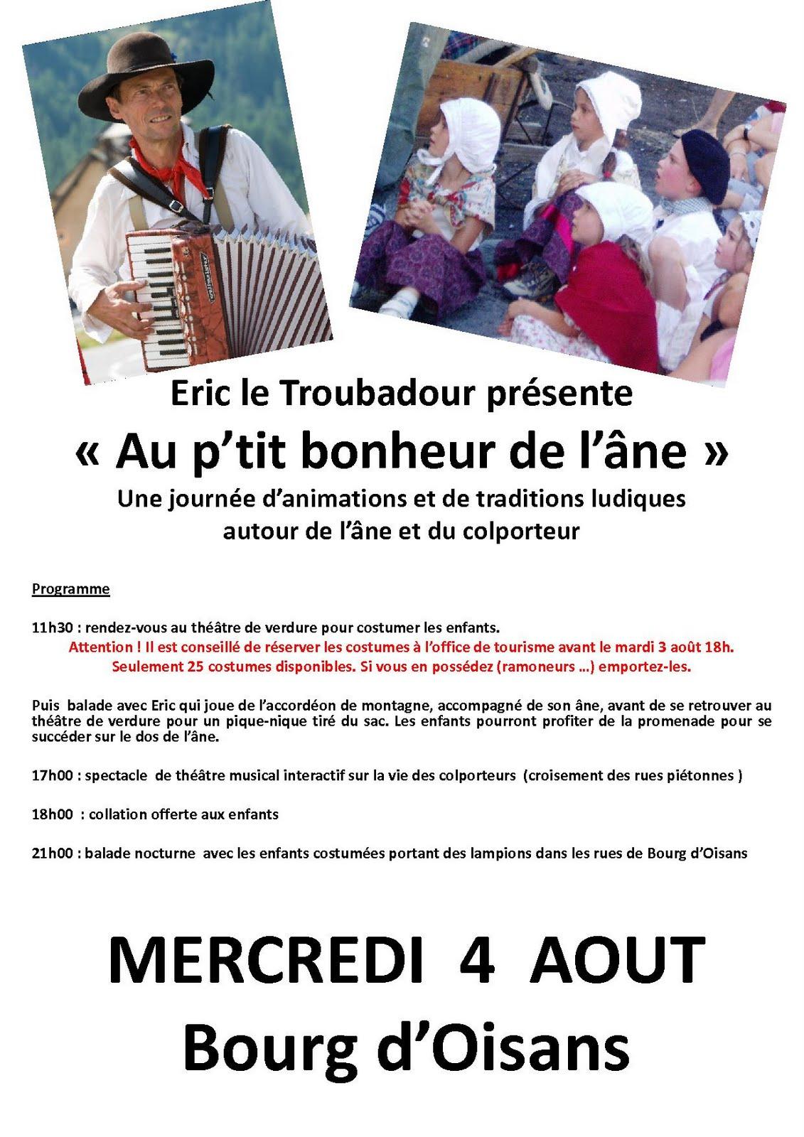 News de l 39 office de tourisme bourg d 39 oisans journ e enfants - Bourg d oisans office tourisme ...
