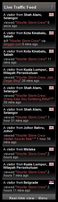 live traffic feed!perlu kah??