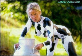 bodypainting cow