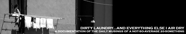 dirty laundry...and everything else i air dry