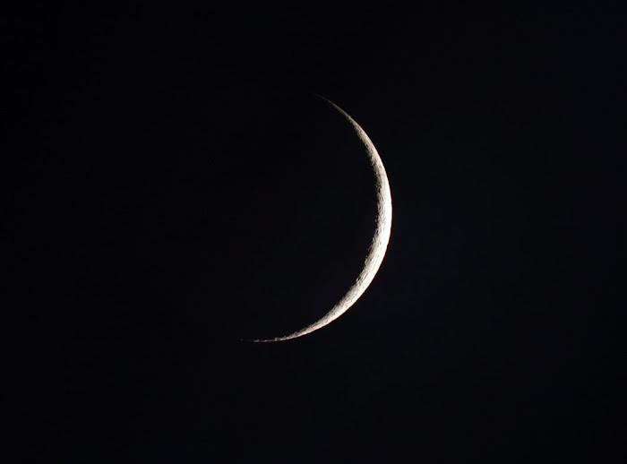 Luna de dos días creciente