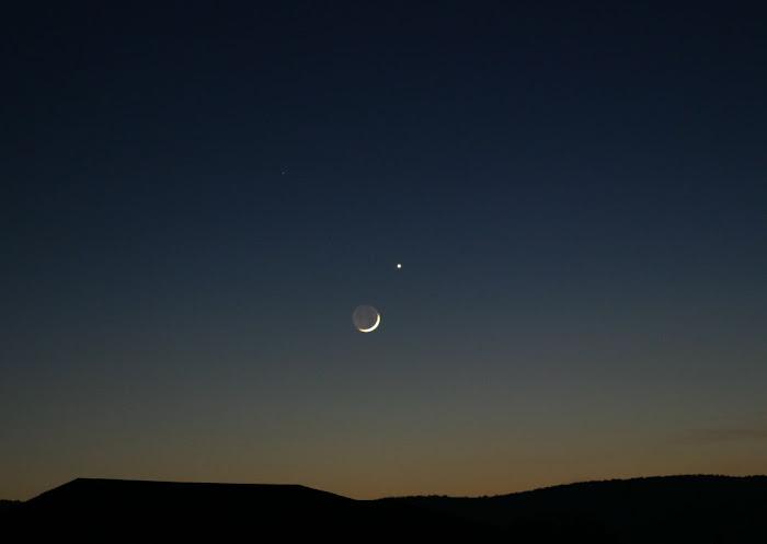 Conjunción Luna-Venus