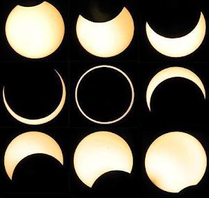 Mosaico eclipse anular de Sol