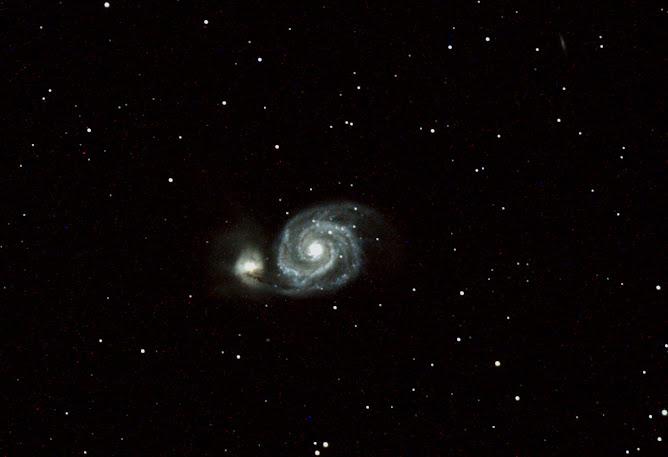 Galaxia M51 en Canes Venatici - FSQQ106ED + Canon450D
