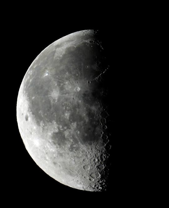 Luna en cuarto menguante 13 de agosto de 2009