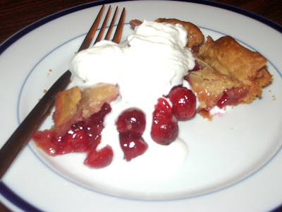 cherry pie. fresh cherry pie