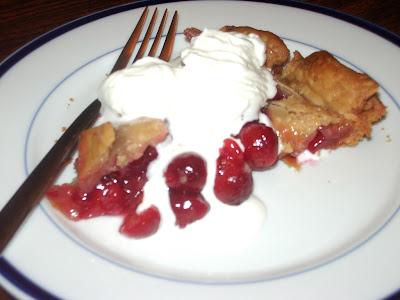 cherry pie. fresh cherry pie