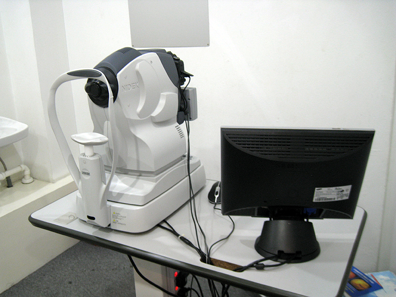 Fundus Camera Exam Fundus Camera to Take a Photo