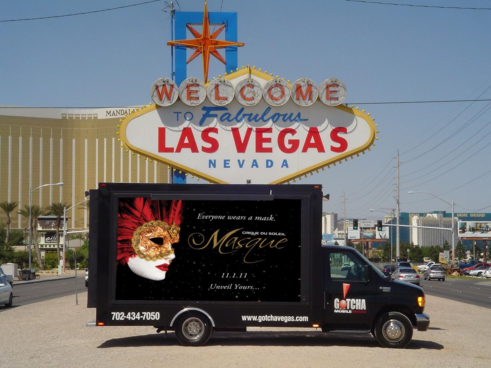 masque: Las Vegas Billboard Truck