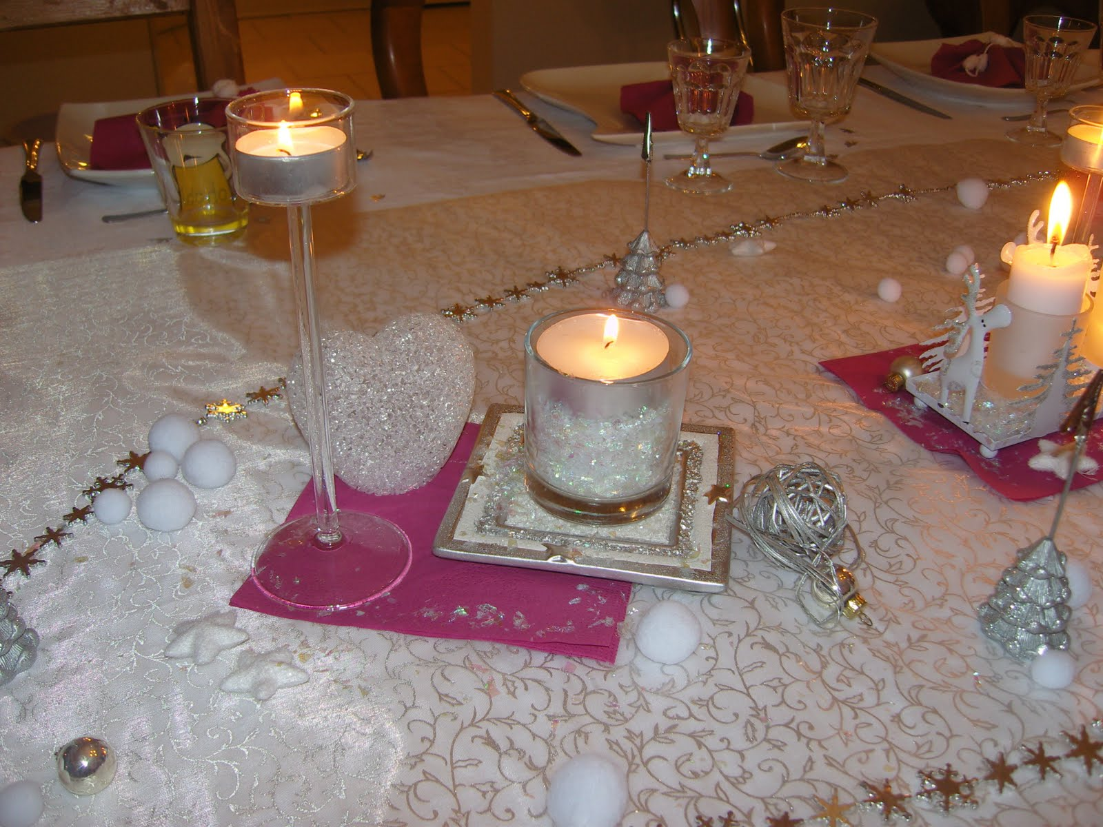 Dans la maison de s verine d coration de table du for Decoration lumignon 8 decembre