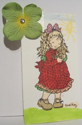 Thea Sofie malt Sarah Kay... / Thea Sofie fargelegger Sarah Kay...